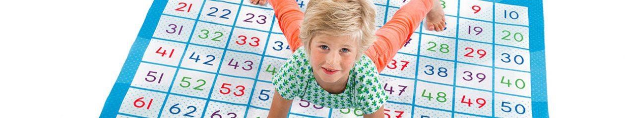 Cijferspelmat – Rechenteppich – Tapis de Calcul – Numbers Play Mat