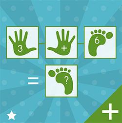 Voorbeeld cijferspelmat opdrachtkaart